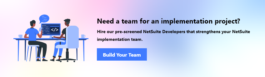 Hire team for an NetSuite implementation project