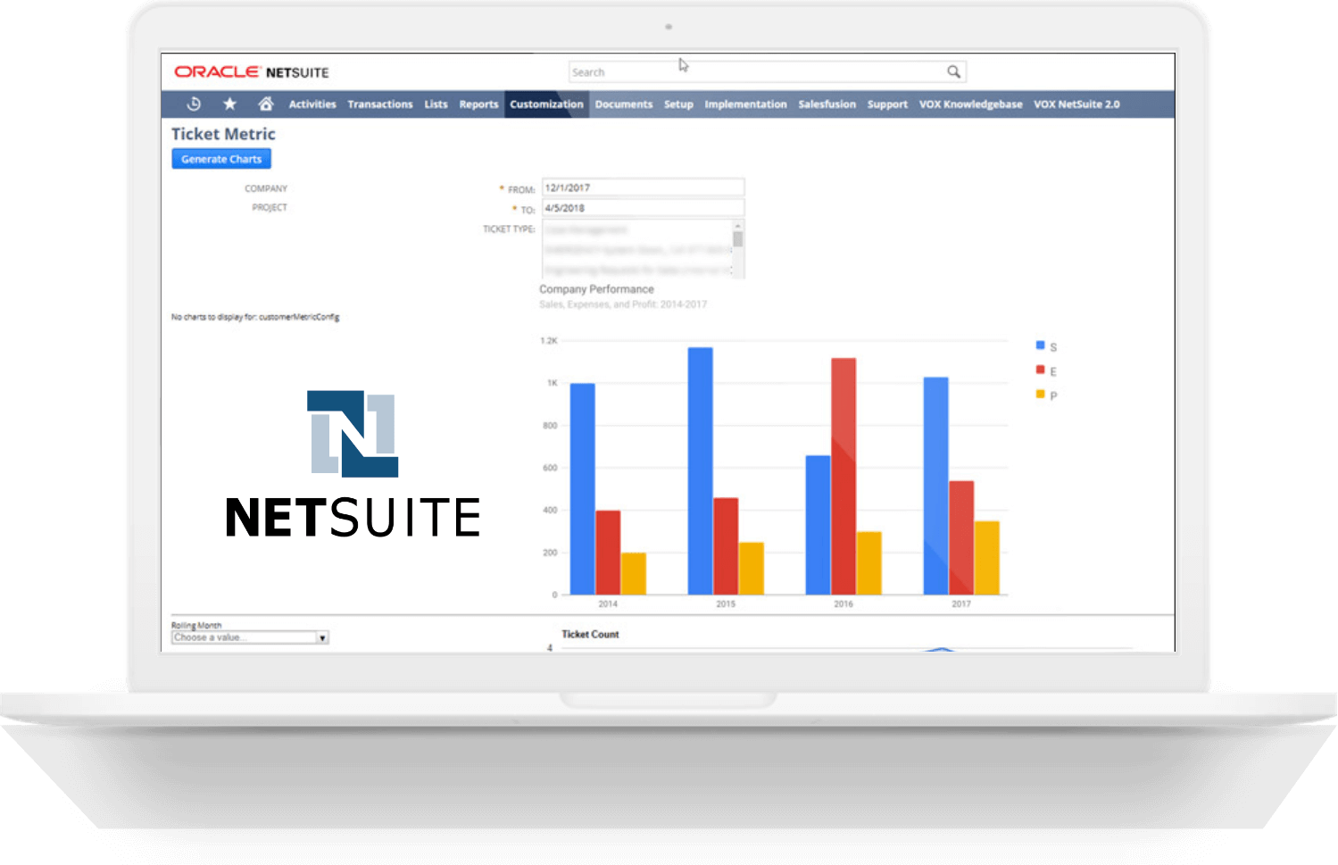 NetSuite and Google Chart Integration