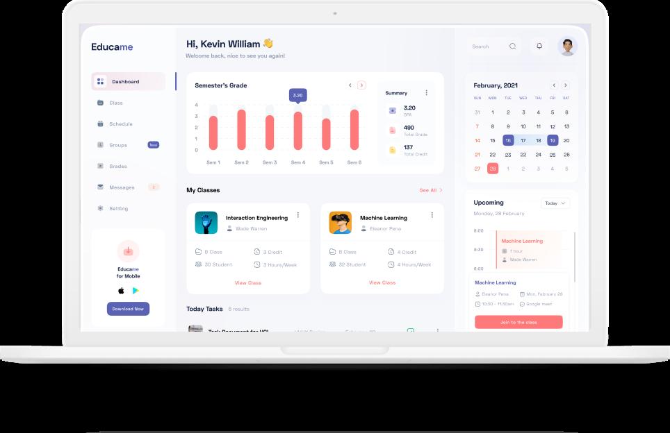User Trainings System Dashboard