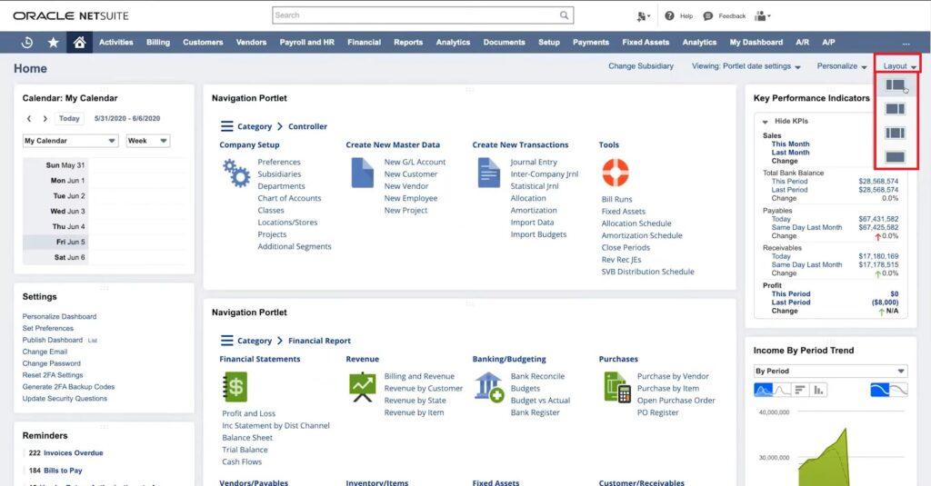 Choosing Layout in NetSuite