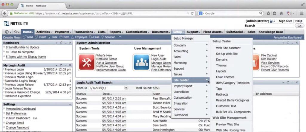 NetSuite Sitebuilder