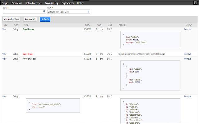 NetSuite HTML Script Notes