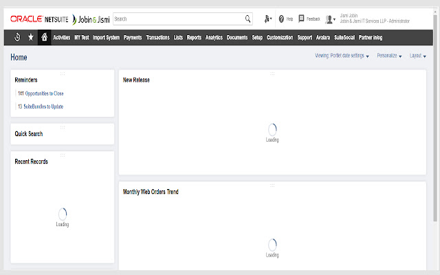 NetSuite Portlet Refresher